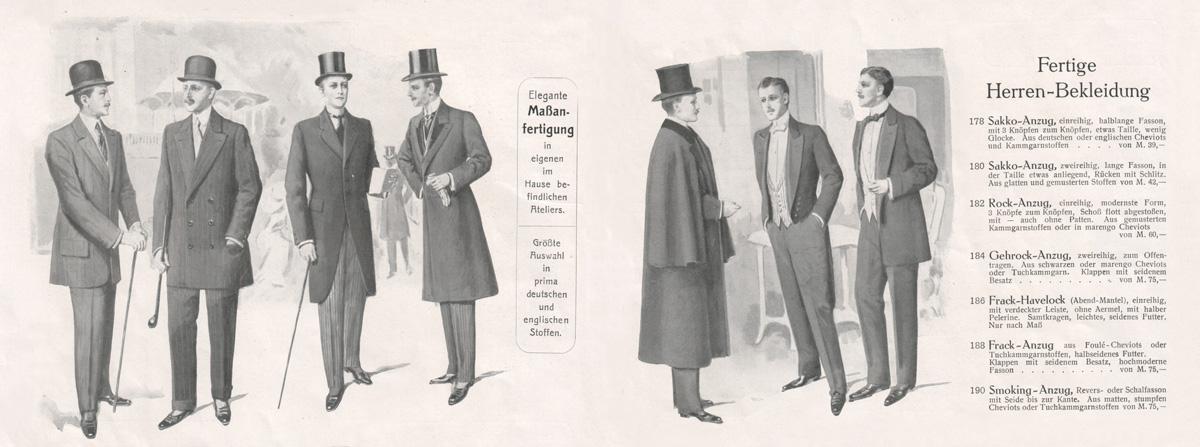 Maßgeschneiderte Kleidung und Konfektion