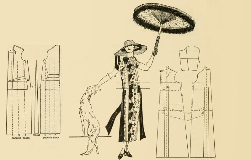 Illustration: Etuikleid der 20er Jahre