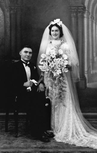 Foto: Brautpaar in den 1930er Jahren