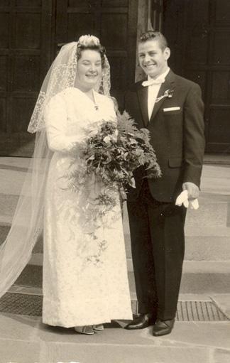 Foto: Brautpaar in den 50er Jahren