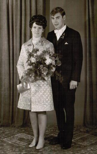 Foto: Brautpaar in den 60er Jahren