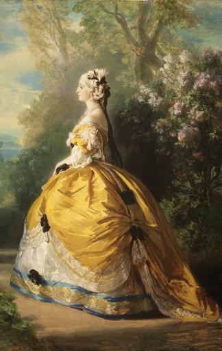 Kaiserin Eugénie von Frankreich in einem Kleid von Worth