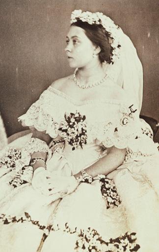 Queen Victoria an ihrem Hochzeitstag