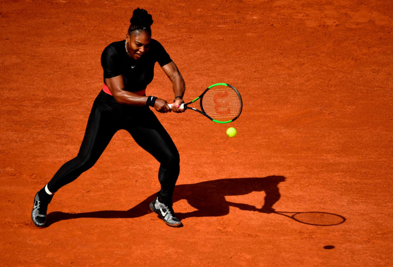 Serena Williams im Kompressionsanzug 2018