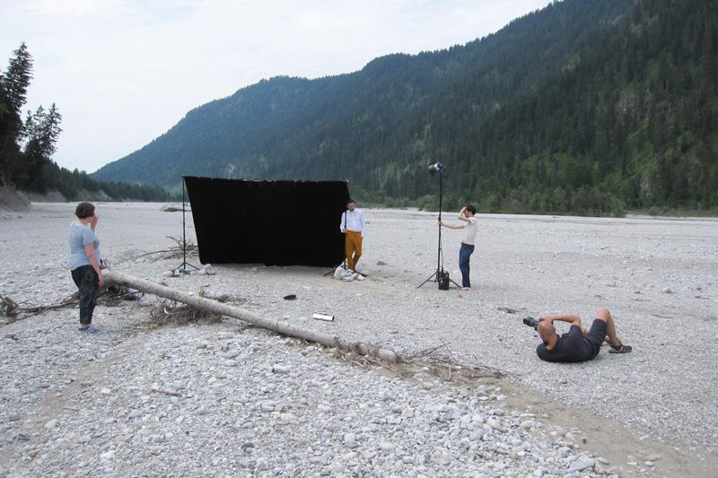 Shooting im Isarflussbett
