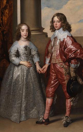 Anthonis van Dyck: Wilhelm II. von Oranien und seine Braut Maria Stuart, Prinzessin von England